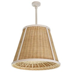 Caeli-I Monumental Steel Rattan Pendant Light, Flow Collection
