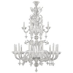 Venetian Chandelier 12+6 arms artistic Crystal Glass Caesar by Multiforme