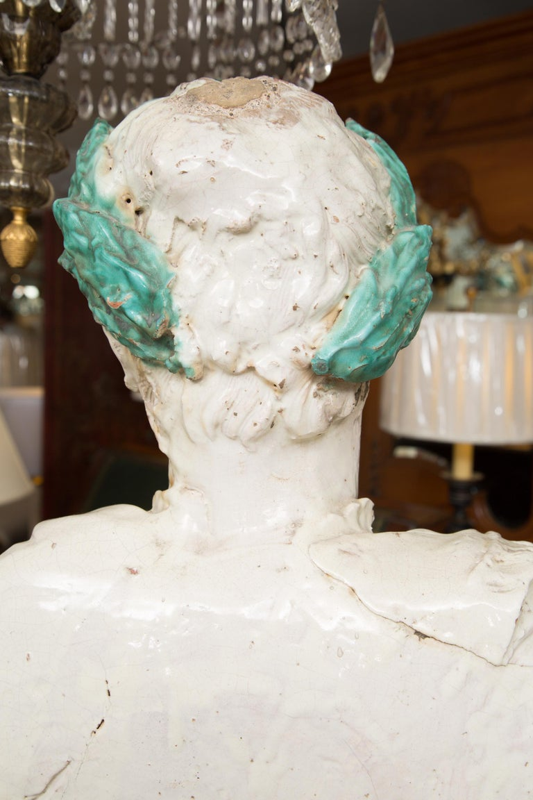Caesar Style Glazed Busts For Sale 4