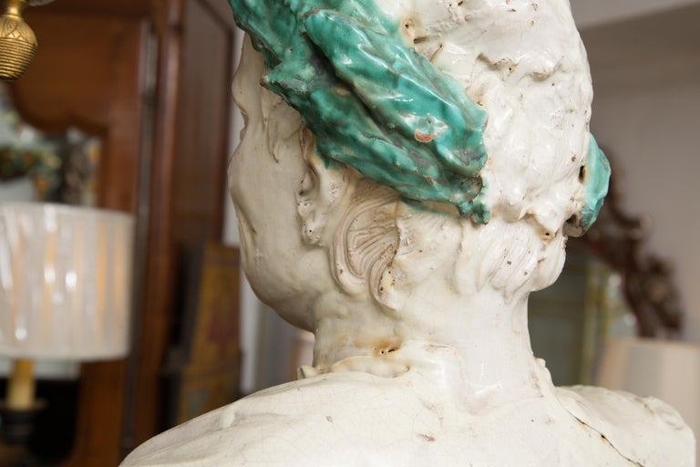 Caesar Style Glazed Busts For Sale 5