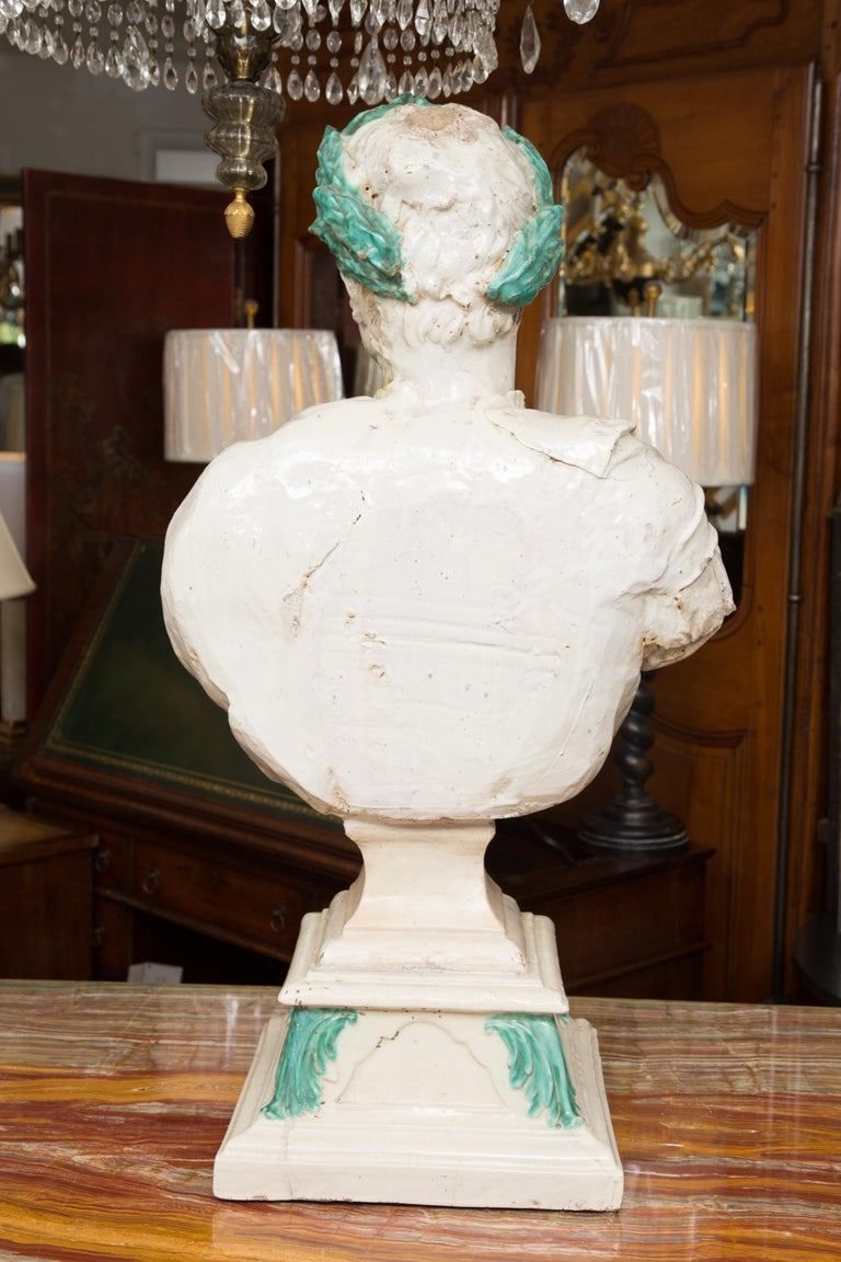 Caesar Style Glazed Busts For Sale 7