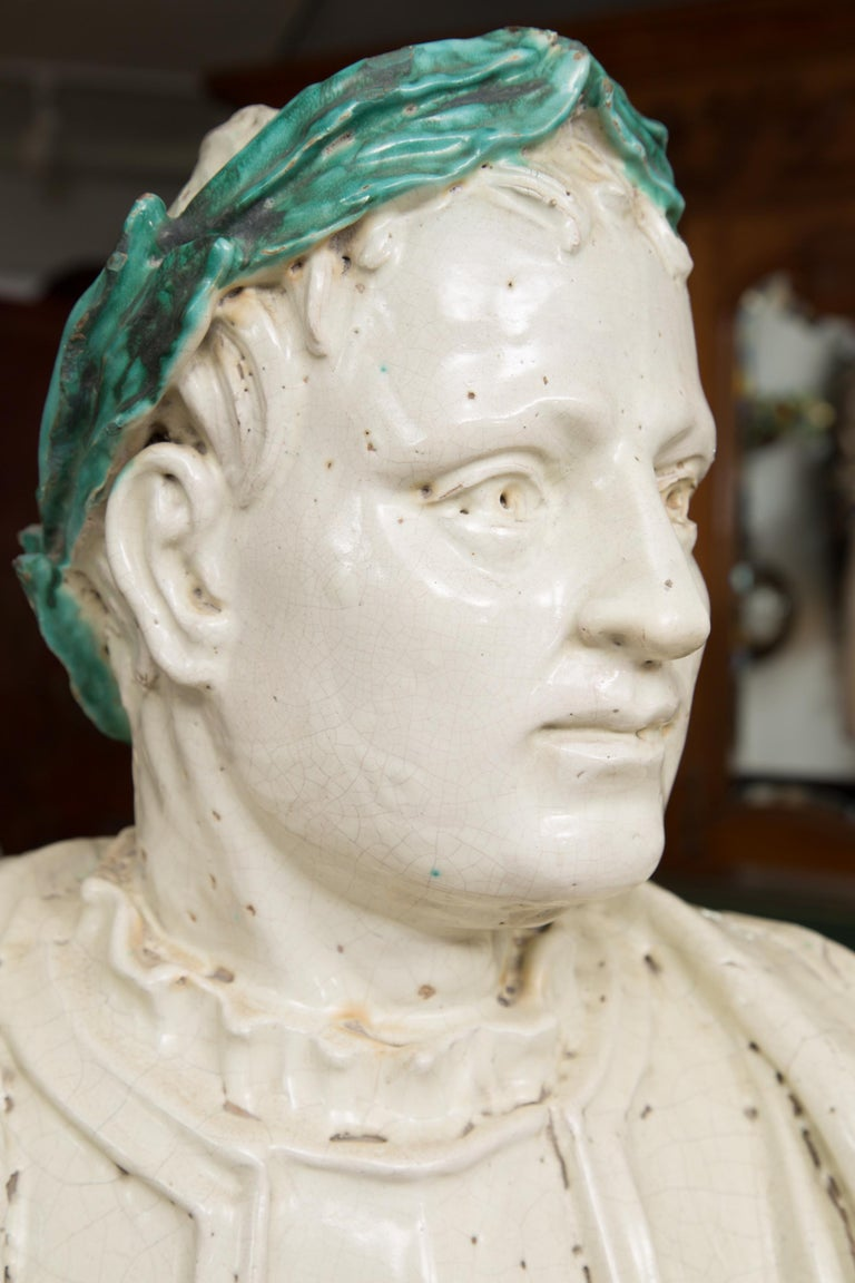 Caesar Style Glazed Busts For Sale 1