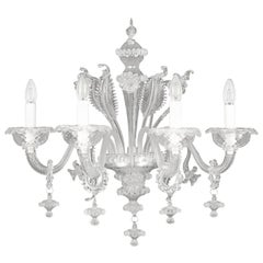 Rezzonico sconce 4 arms Crystal Blown Artistic Glass Caesar by Multiforme