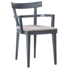 Cafè 461/l Gray Chair by Werther Toffoloni