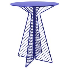 Cafe Bar Table in Electric Blue by Bend Goods