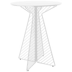 Cafe Bar Table in White by Bend Goods