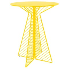 Cafe Bar Table in Yellow by Bend Goods