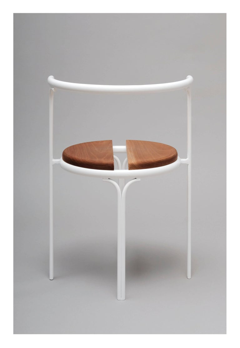 Cafe Chair Caoba Wood Contemporary Style White For Sale At