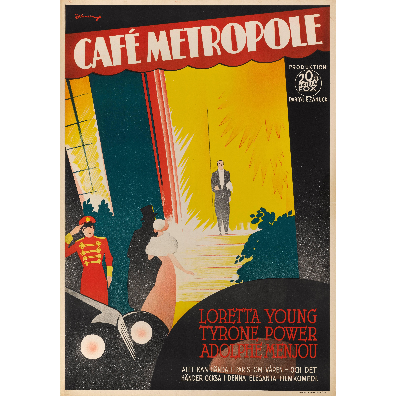 """Cafe Metropole"", Swedish Film Poster"