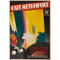"""Cafe Metropole"", Swedish Film Poster"