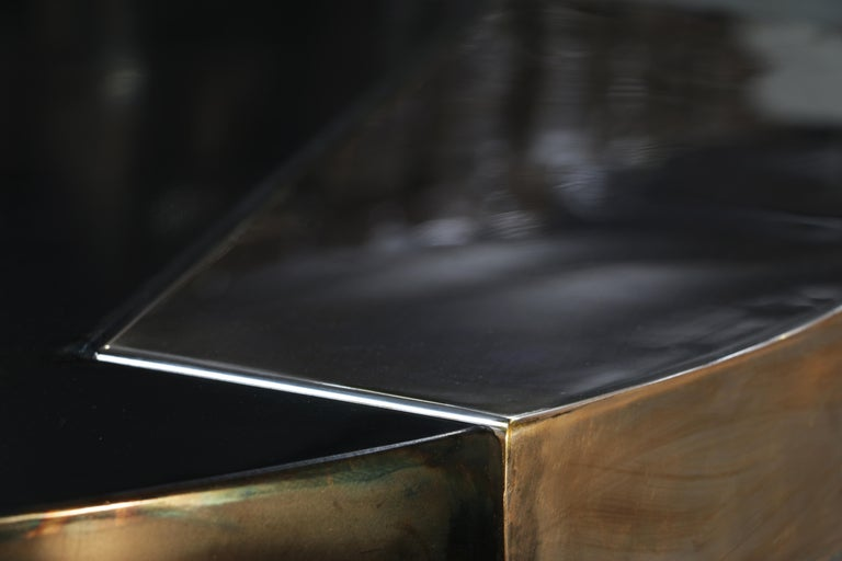 Burnished Cafè, Sculptural Contemporary Coffee Table For Sale