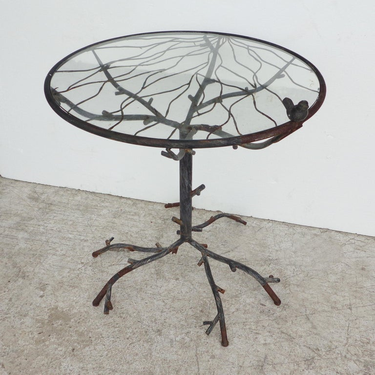 Modern Cafe Table in the Manner of Alberto Giacometti For Sale