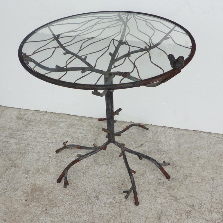 European Cafe Table in the Manner of Alberto Giacometti For Sale