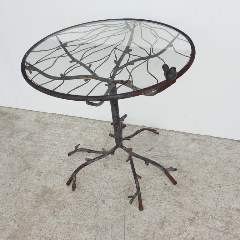 Cafe Table in the Manner of Alberto Giacometti In Good Condition For Sale In Pasadena, TX