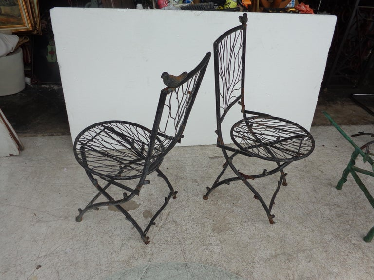 Iron Cafe Table in the Manner of Alberto Giacometti For Sale
