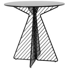 Cafe Table, Metal Wire Flat Pack Dining Table by Bend Goods in Black