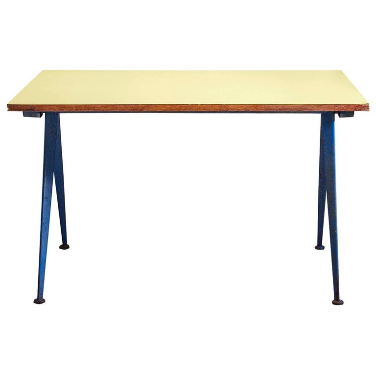 """Cafeteria Table N. 512, """"Compas Table"""" by Jean Prouve, circa 1953, France For Sale"""
