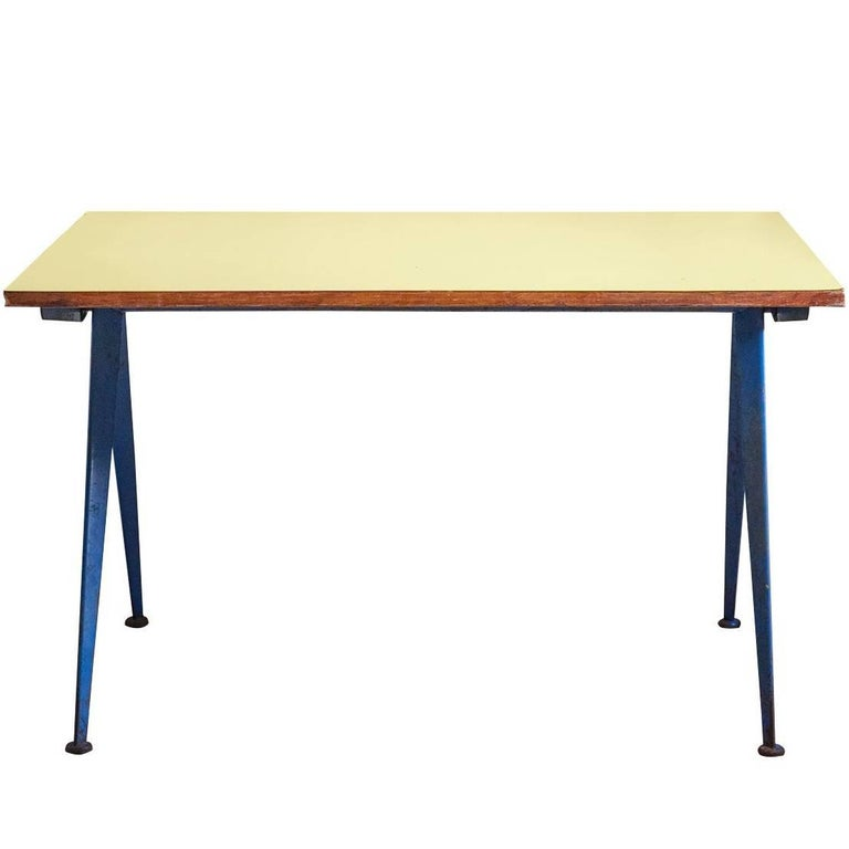 "Cafeteria Table N. 512, ""Compas Table"" by Jean Prouve, circa 1953, France"
