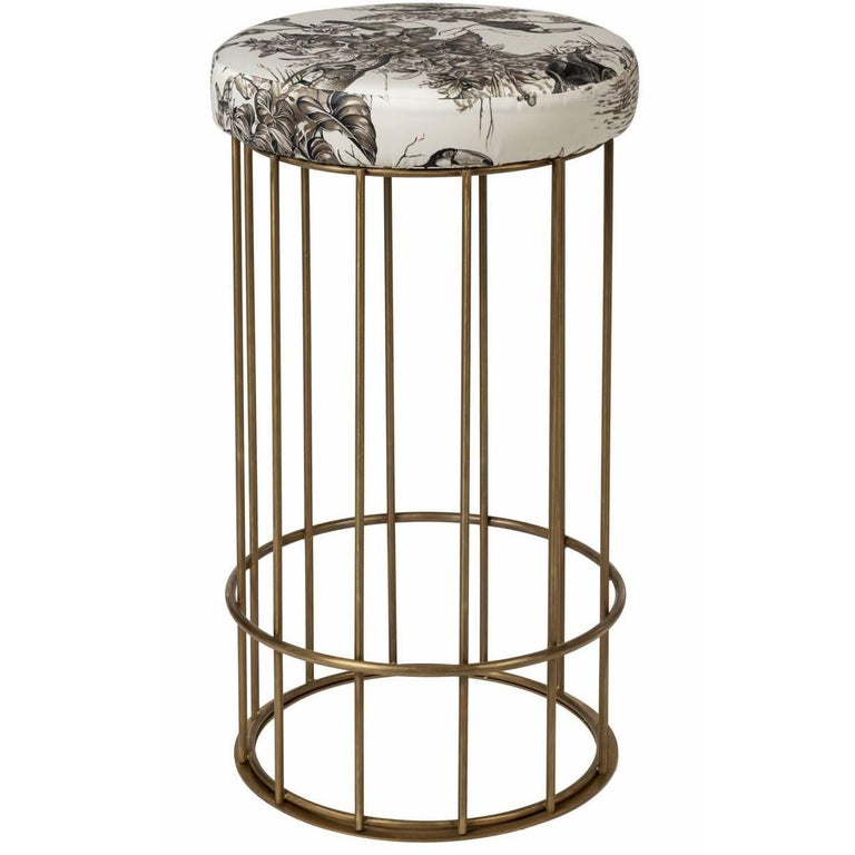 Glazed Barrel Stool Ii At 1stdibs