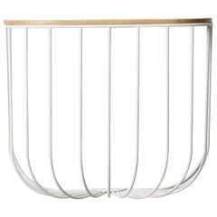 Cage Shelf, White or Light Ash