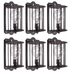 Caged Metal Sconce, 21st Century