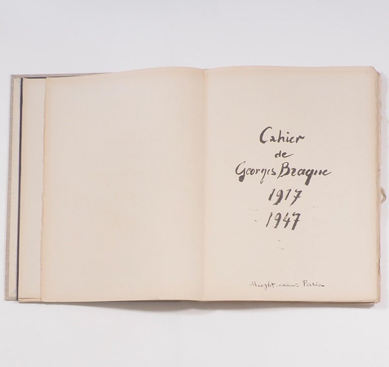 Cahier de Georges Braque 1917-1955.   Published by Paris: Maeght Éditeur First Edition 1956. Printed by Fernand Mourlot.  A simply beautiful portfolio, overseen and designed entirely by the artist and rare to find in such excellent condition.In