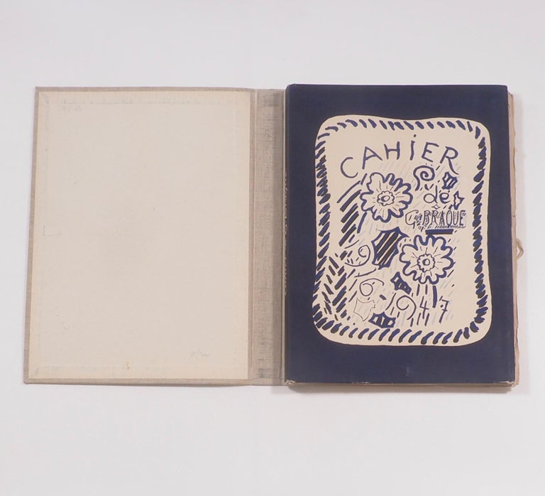 Mid-Century Modern Cahier de Georges Braque 1917-1955 First Edition Book 1956 For Sale