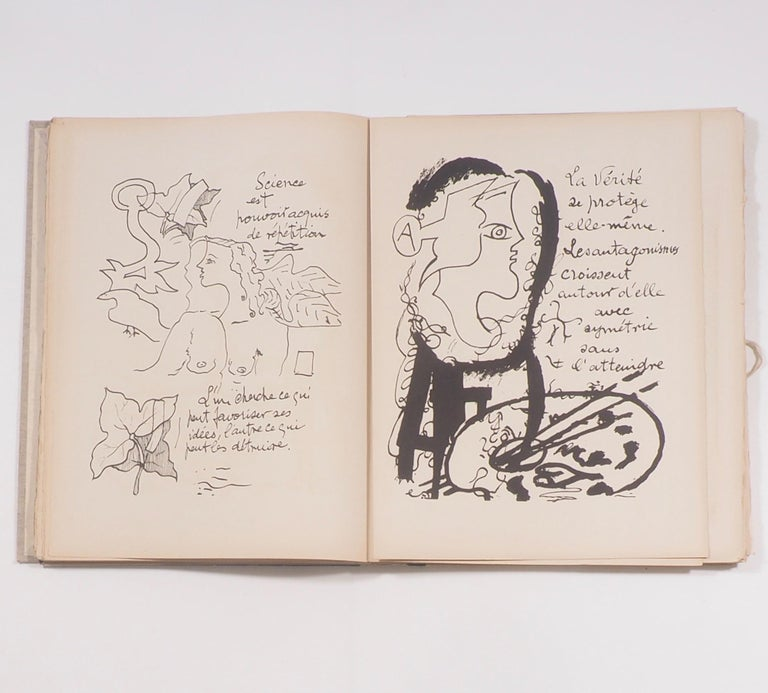 French Cahier de Georges Braque 1917-1955 First Edition Book 1956 For Sale