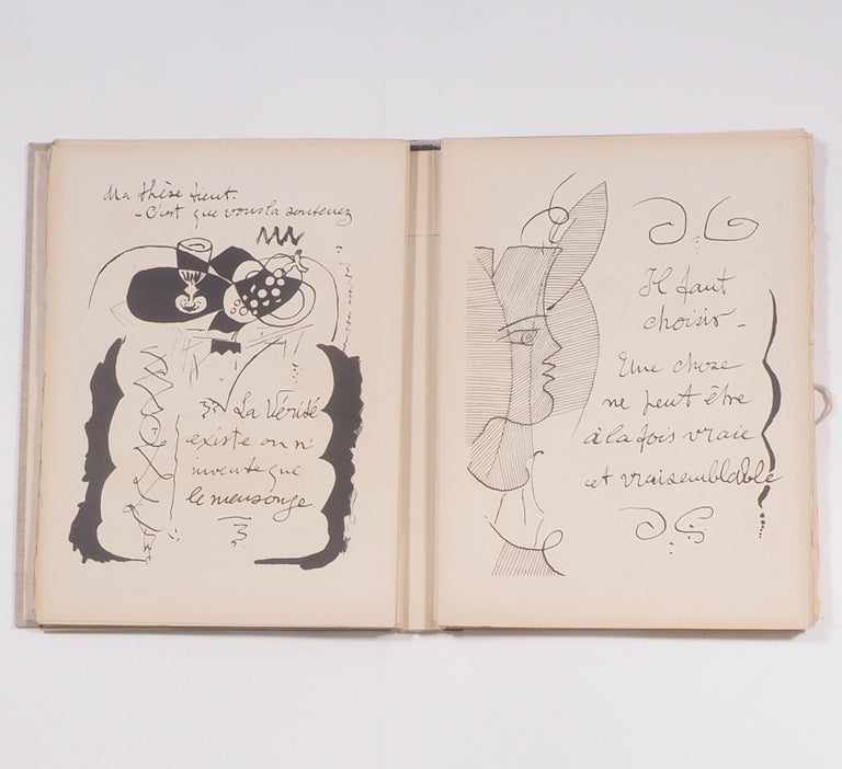Paper Cahier de Georges Braque 1917-1955 First Edition Book 1956 For Sale