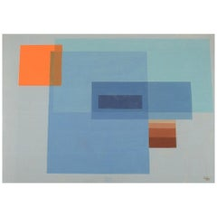 CAI, Unknown Artist, Watercolor on Paper, Abstract Composition, Dated 1971