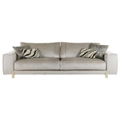 Caicos 3-Seat Sofa in Fabric by Roberto Cavalli