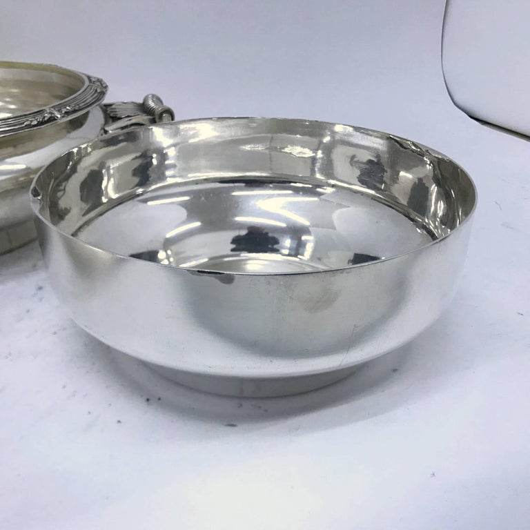 Cailar Bayard Early 20th Century Art Deco Silver Plated French Entree Dish For Sale 1