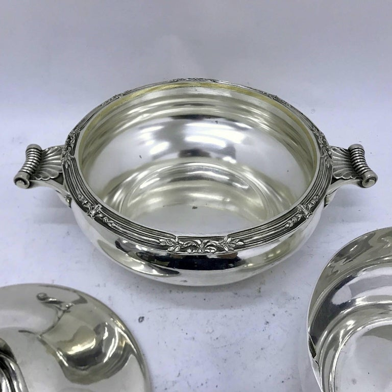 Cailar Bayard Early 20th Century Art Deco Silver Plated French Entree Dish For Sale 2