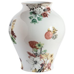 Cairo, Contemporary Porcelain Vase with Decorative Design by Vito Nesta