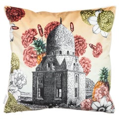 Cairo, Contemporary Velvet Printed Pillow by Vito Nesta