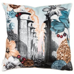 Cairo, Contemporary Velvet Printed Pillow by Vito Nesta