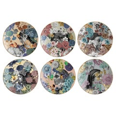 Cairo, Six Contemporary Porcelain Platters with Decorative Design
