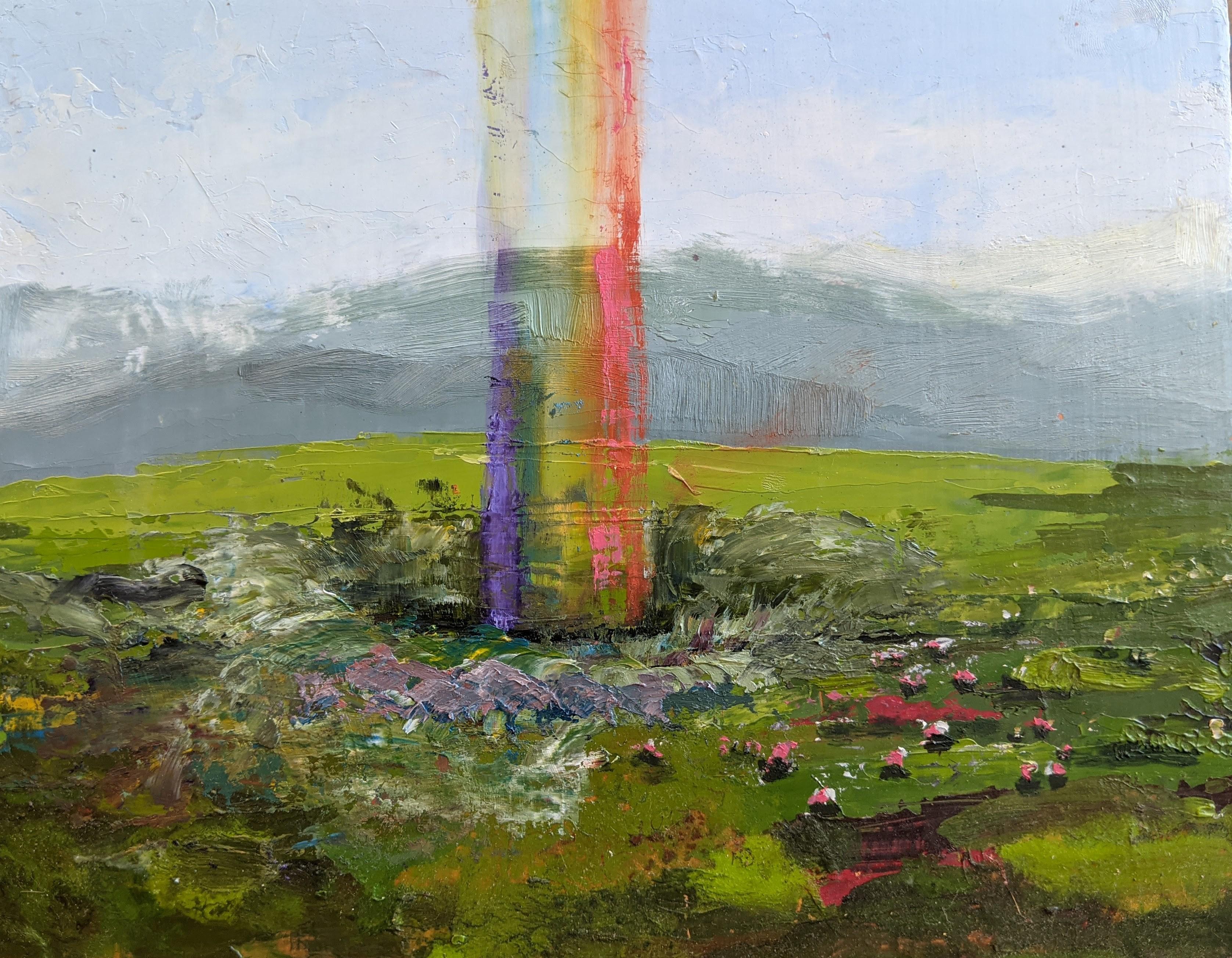 """Rainbow Hole"" Oil Painting"