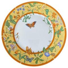 Cake/ Dessert Plate from Siesta Collection Hermès Paris, Fine Porcelain Limoges