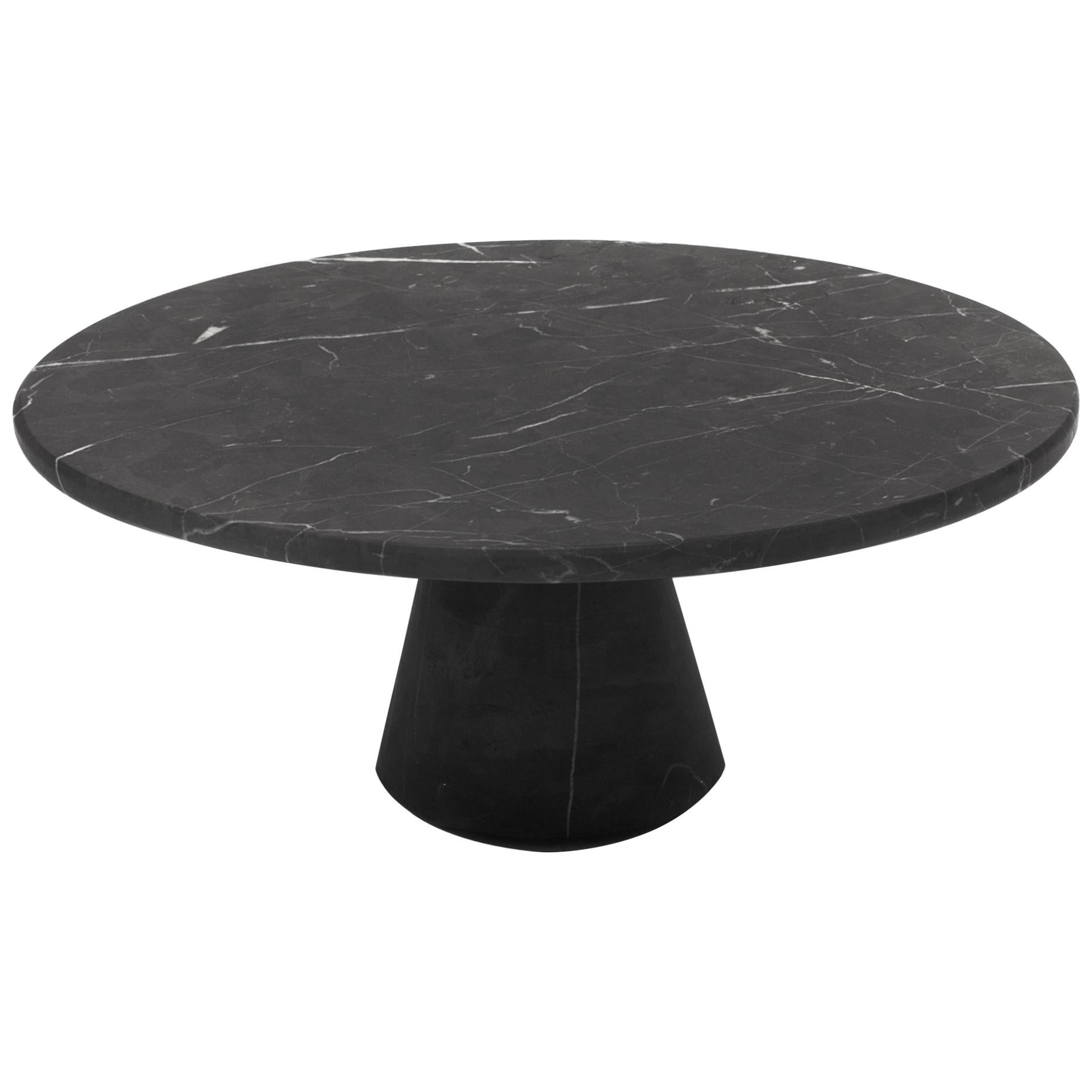Cónica Cake Stand in Black Marble