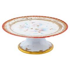 Cakestand Gold Hand-Painted Plate Coralla Maiuri Modern New Tableware