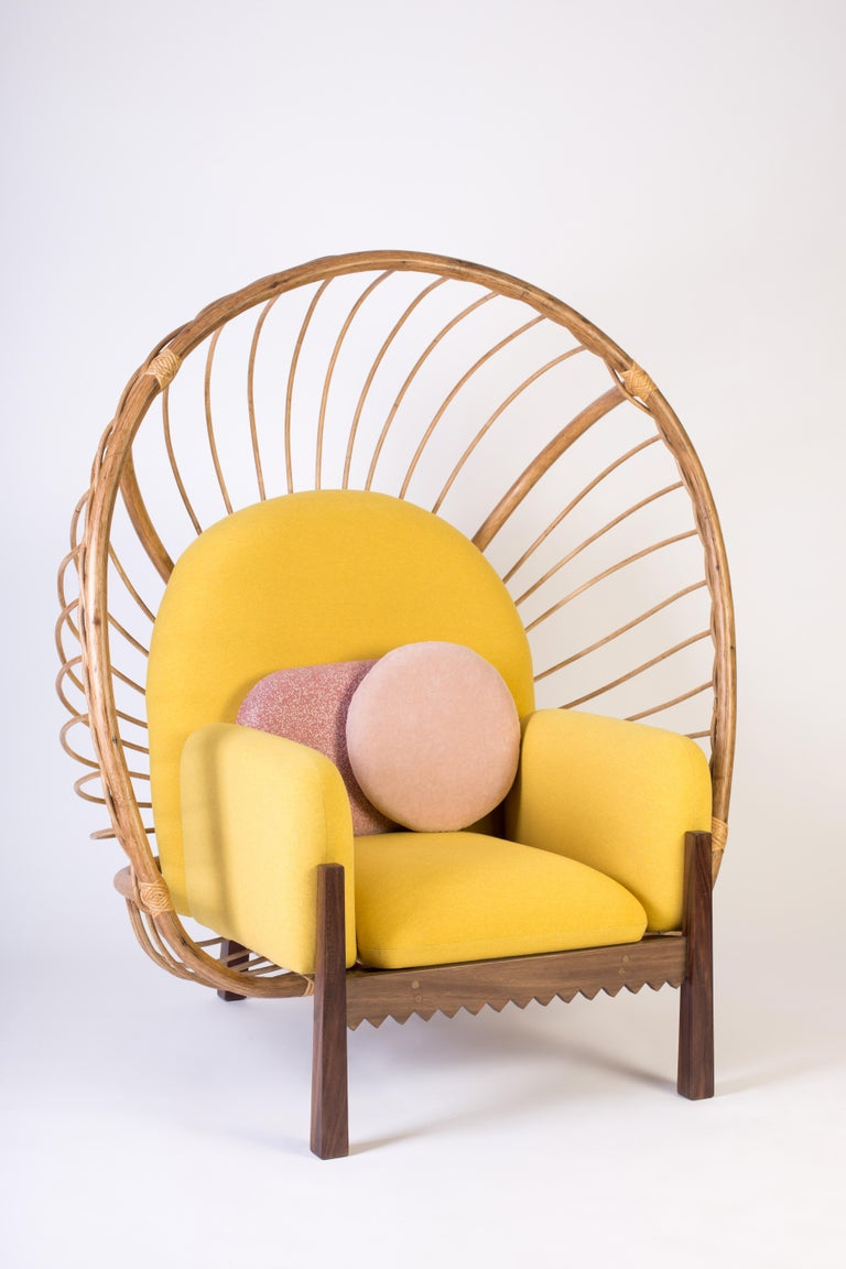 Hardwood Calaca Armchair, Contemporary Mexican Design For Sale