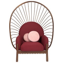 Calaca Armchair, Huanacaxtle Tropical Wood, Contemporary Mexican Design