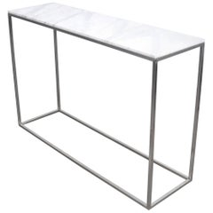 Calacatta Marble and Aluminium Console Table