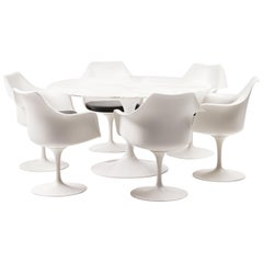 Calacatta Marble Dining Set by Eero Saarinen for Knoll International