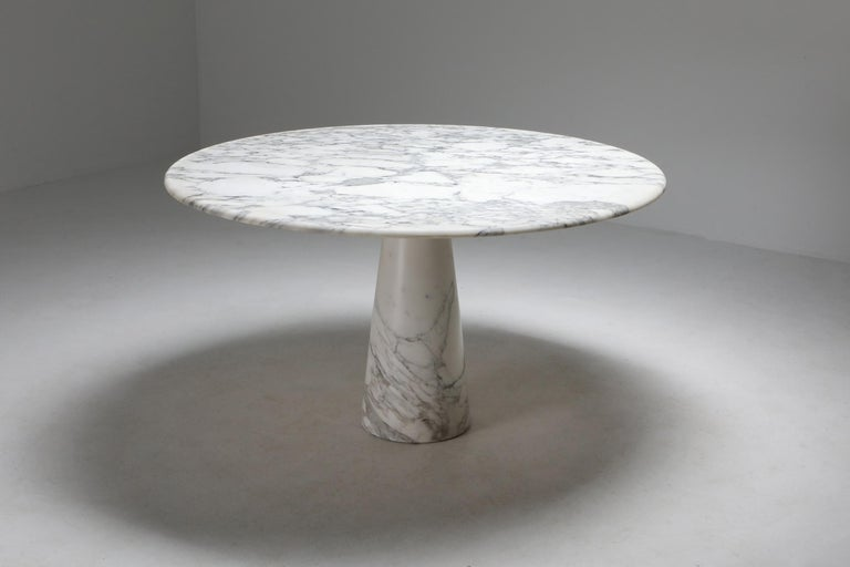 Post-Modern Calacatta Marble Dining Table by Angelo Mangiarotti for Skipper, 1972