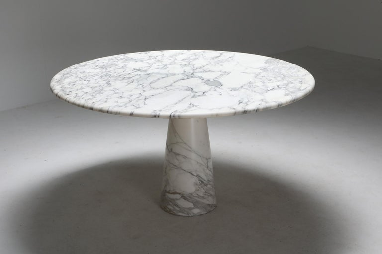 Calacatta Marble Dining Table by Angelo Mangiarotti for Skipper, 1972 In Excellent Condition In Antwerp, BE