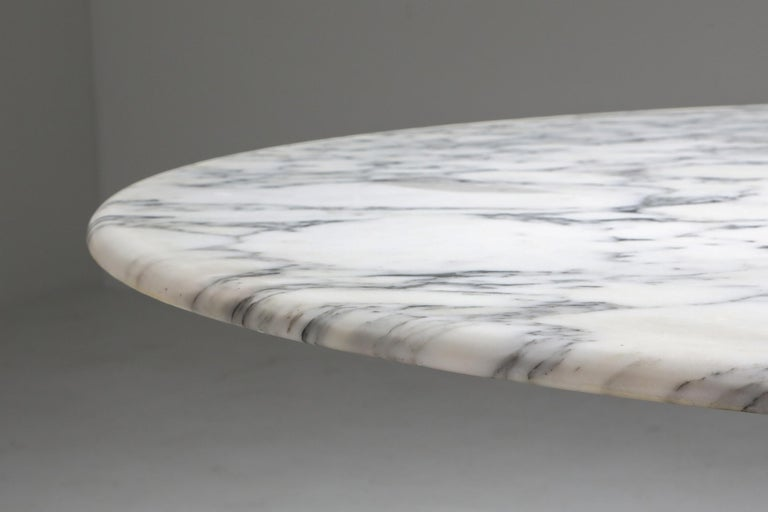 Late 20th Century Calacatta Marble Dining Table by Angelo Mangiarotti for Skipper, 1972