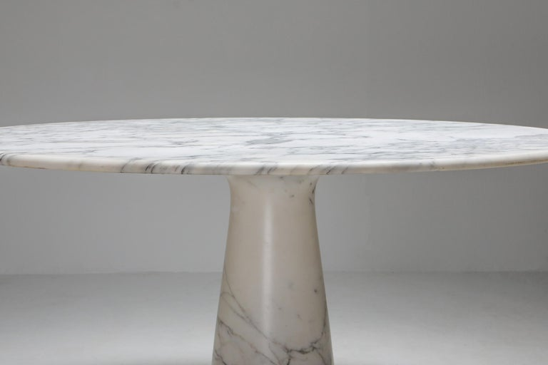 Calacatta Marble Dining Table by Angelo Mangiarotti for Skipper, 1972 1