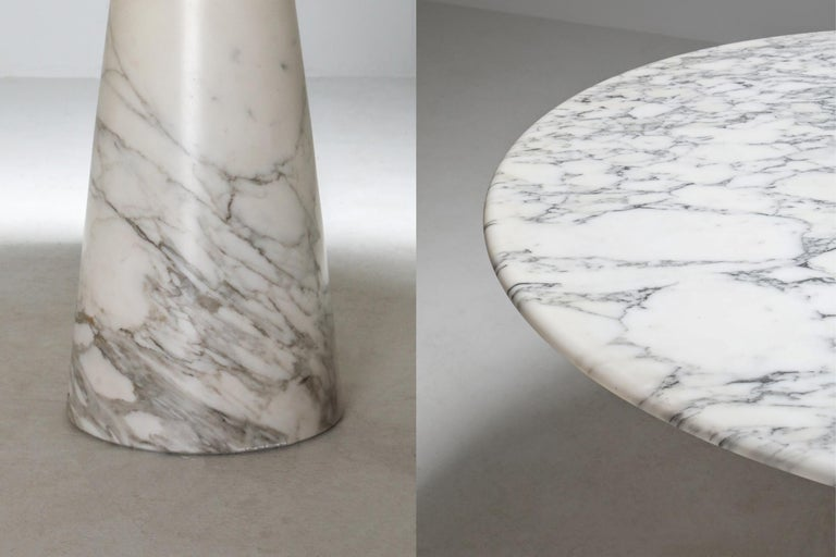 Calacatta Marble Dining Table by Angelo Mangiarotti for Skipper, 1972 2